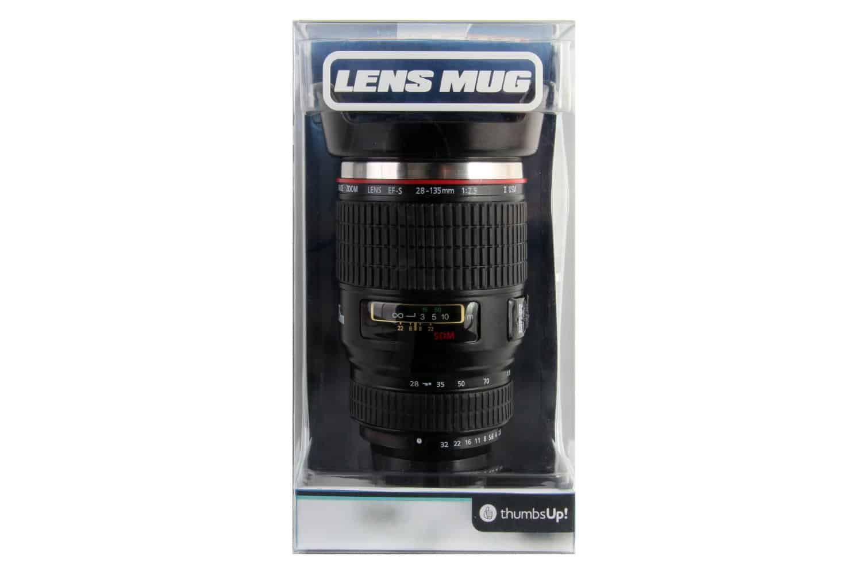 Thumbs Up Travel Lens Mug  Packaging