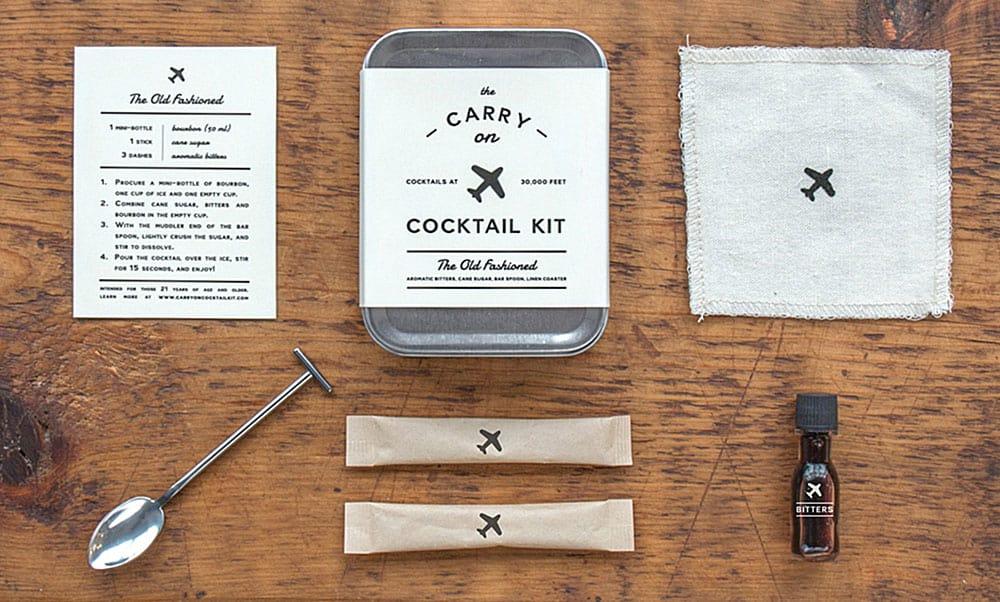 W&P Design Carry On Cocktail Kit Unique Gift Idea