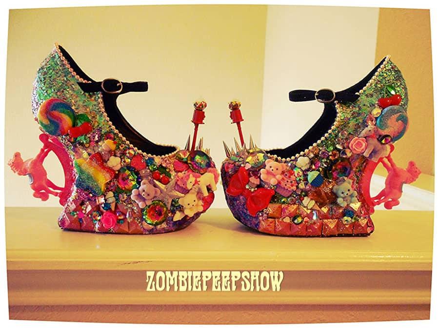 ZombiePeepshow Sugar and Spice Crazy Shoe Design