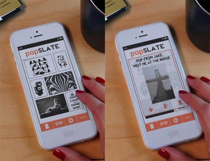 popSLATE iPhone Smart Case App