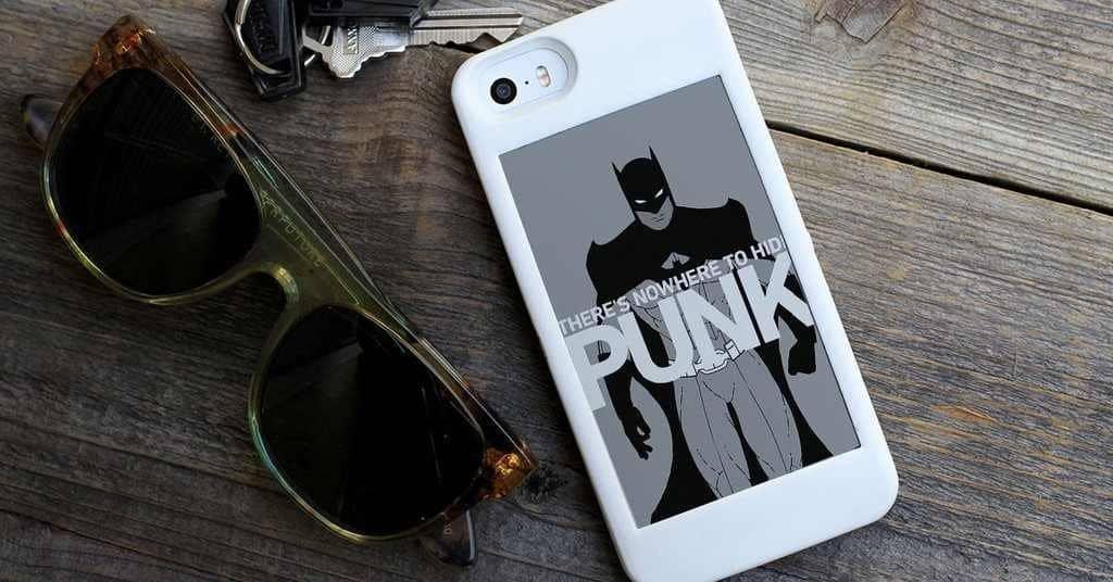 popSLATE iPhone Smart Case  Batman Phone