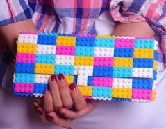 Colorful bag of bricks.