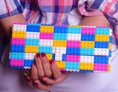 Colorful bag of bricks.