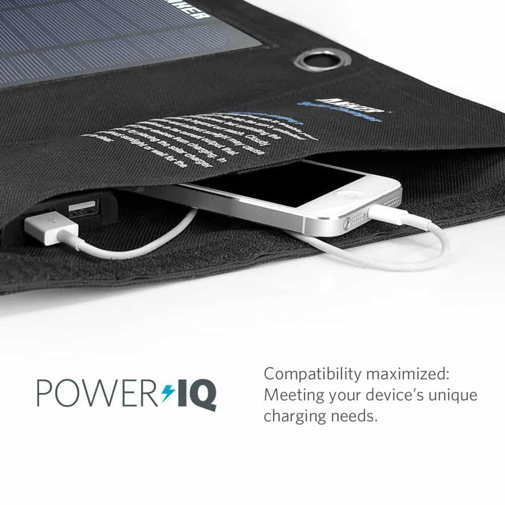 Anker Portable Foldable Solar Charger Hidden Pocket for iPhone and iPod