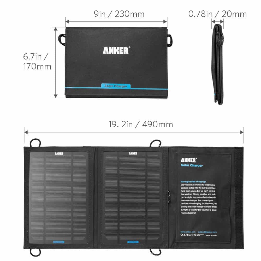 Anker Portable Foldable Solar Charger Mobile Battery
