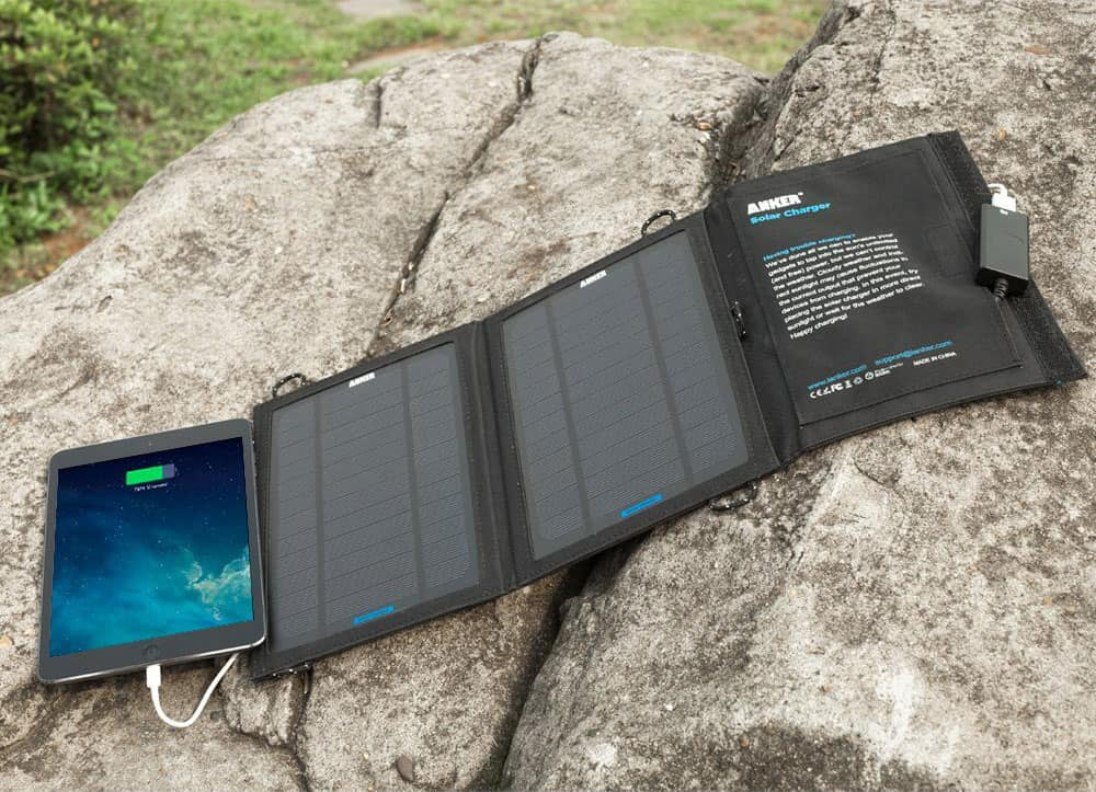 Anker Portable Foldable Solar Charger Power Back Up for Mobile Device