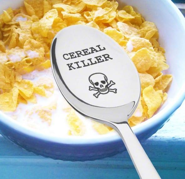 Cereal Killer Spoon Buy Funny Breakfast Themed Gift Idea