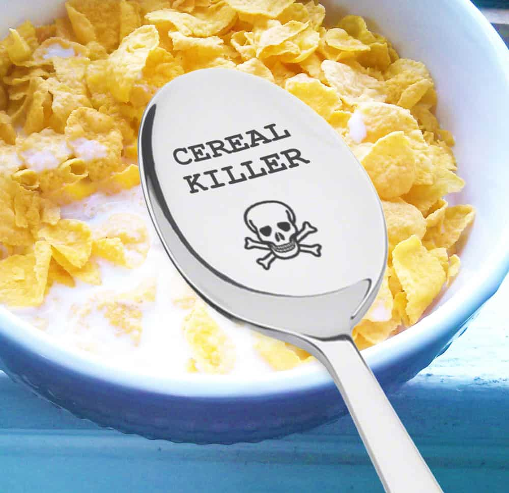 Cereal Killer Spoon Buy Funny Breakfast Themed Gift Idea