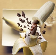 Chocolate filled banana, the way man intended it to be.