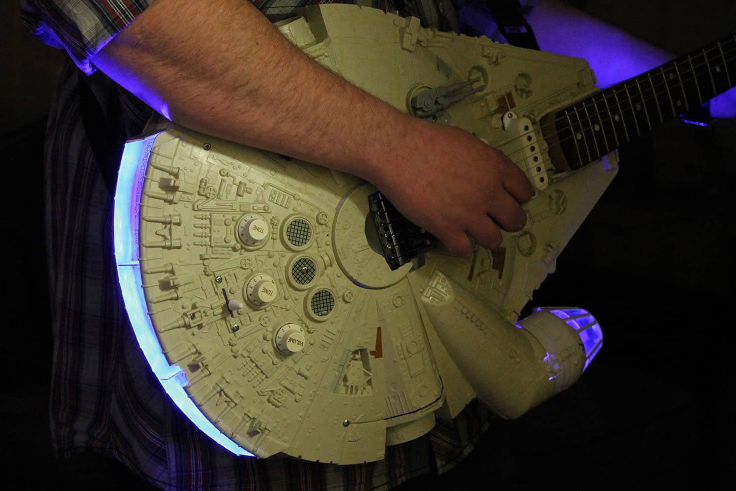 Playing with the Millennium Falcon.
