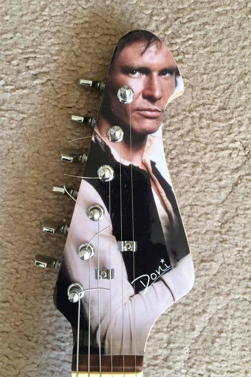 Doni Guitars Han Solo Electric Guitar Head Detail