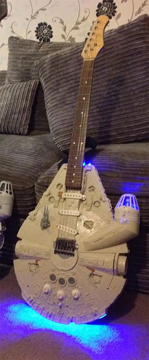 Doni Guitars Han Solo Electric Guitar Millenium Falcon Body