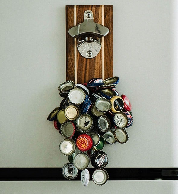 Bottle opener with a magnetic personality.
