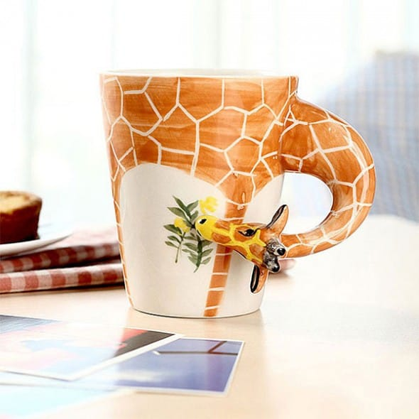 Homee Hand Painted Giraffe Mug Cute Gift for Her Office