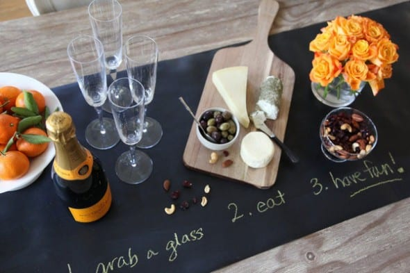 Jaq Jaq Bird Chalk Board Table Runner Buy Wine for Party