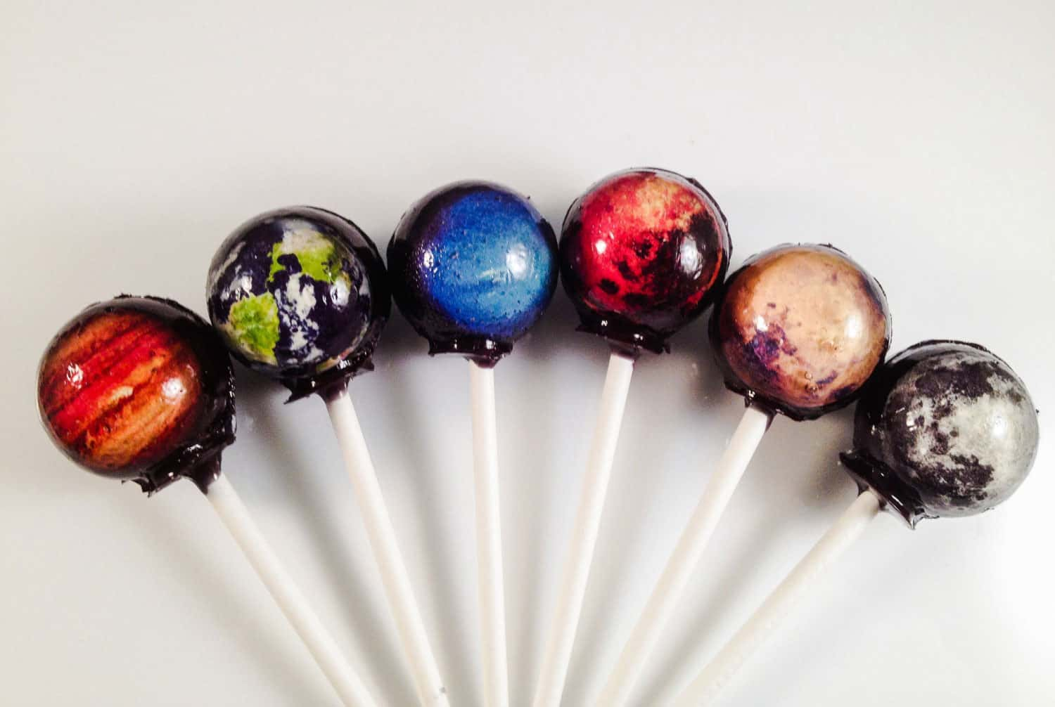 LIQ NYC Outer Space Hard Candy Lollipops Food with Cool Design