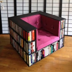 It's a library in a chair!