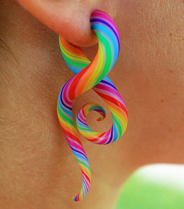 Modified-Lobes-Technicolor-FAKERS-Polýpous-Plugs-Candy-Earrings