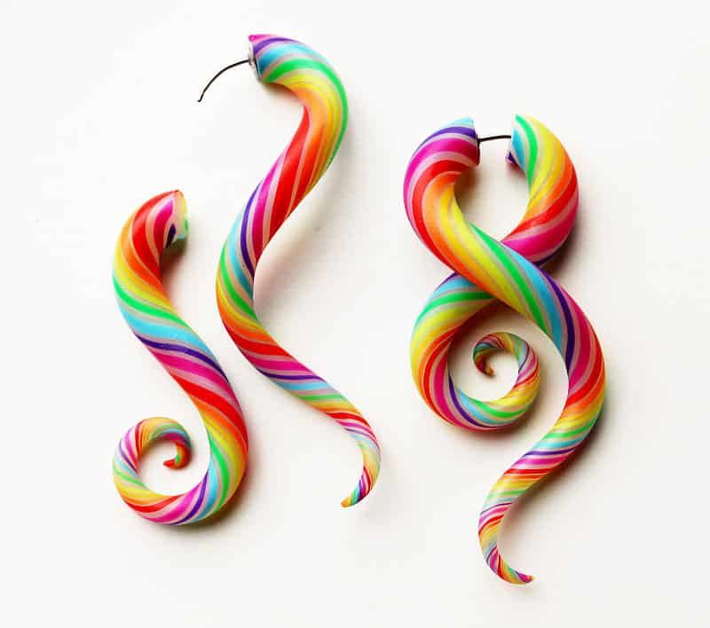 Modified-Lobes-Technicolor-FAKERS-Polýpous-Plugs-Tentacle-Rainbow-Novelty