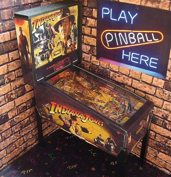 Pinball Arcade Miniature Pinball Table Indiana Jones Toy Memorabilia