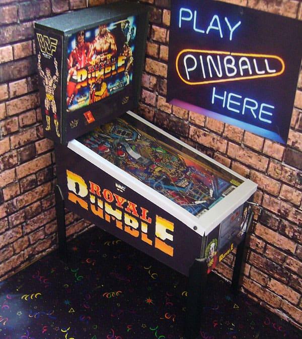 Pinball Arcade Miniature Pinball Table WWF Royal Rumble Nostalgia