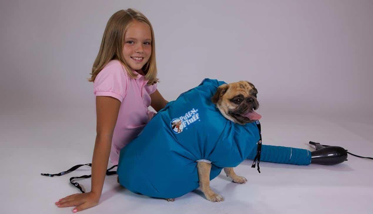 Puff-N-Fluff Dog Dryer Crazy Pet Invetion