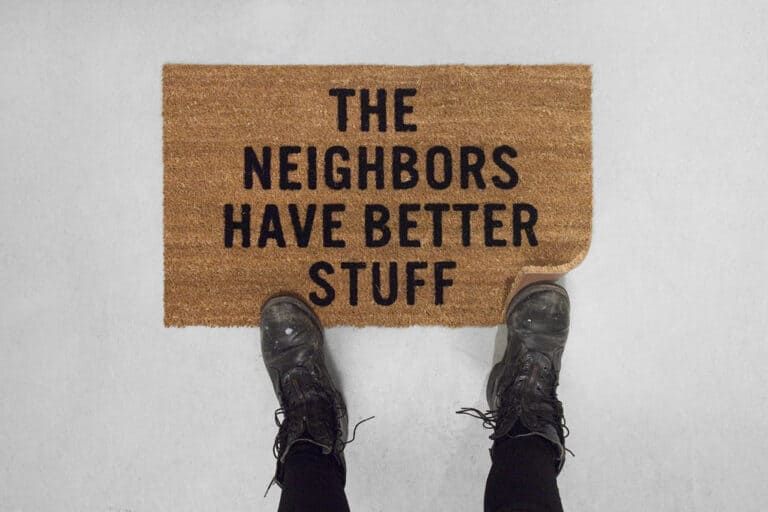 Reed Wilson Design The Neighbors Have Better Stuff Doormat Funny House Warming Gift Idea