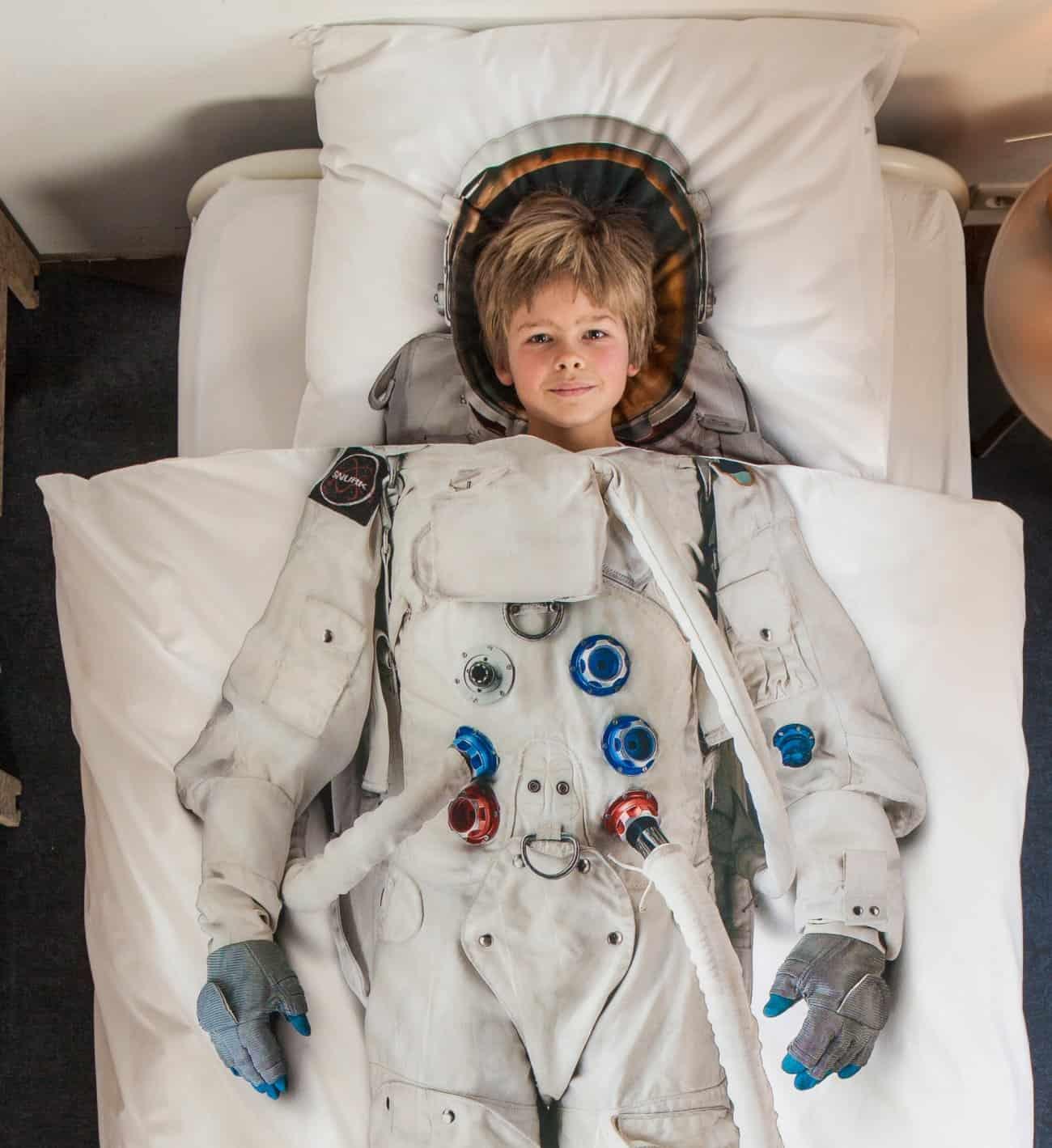 Snurk Astronaut Duvet Cover Cute Boy Bed Sheet