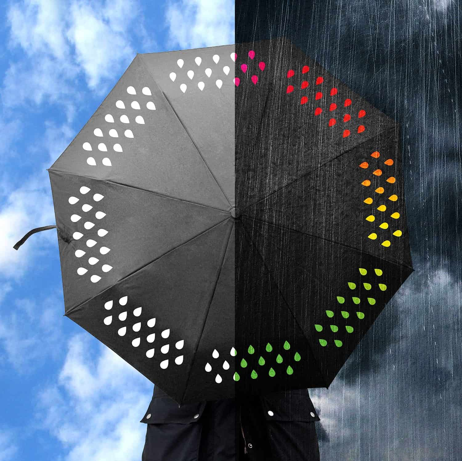 Suck UK Color Changing Umbrella Chic Novelty Item