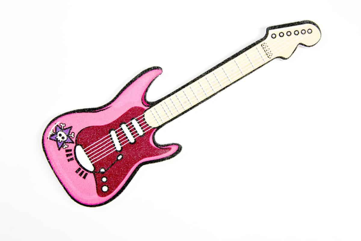 Suck UK Rockstar Guitar Nail Files Pink Rock Chic