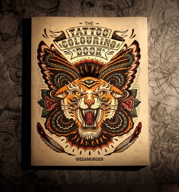 The Tattoo Coloring Book Buy Boyfriend Cool Gift