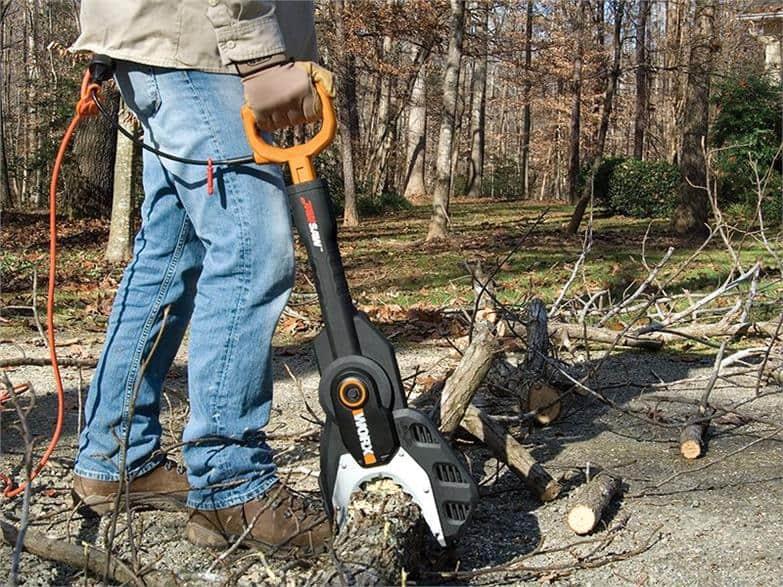 WORX JawSaw Electric Chainsaw Cut Logs for Fireplace