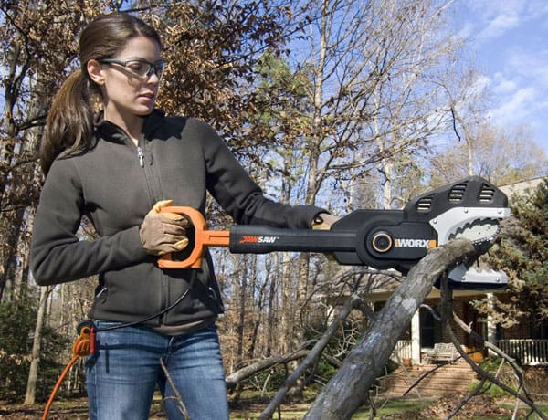 WORX JawSaw Electric Chainsaw Cut Tree Branches