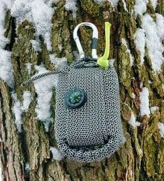 Stylish compact survival kit.