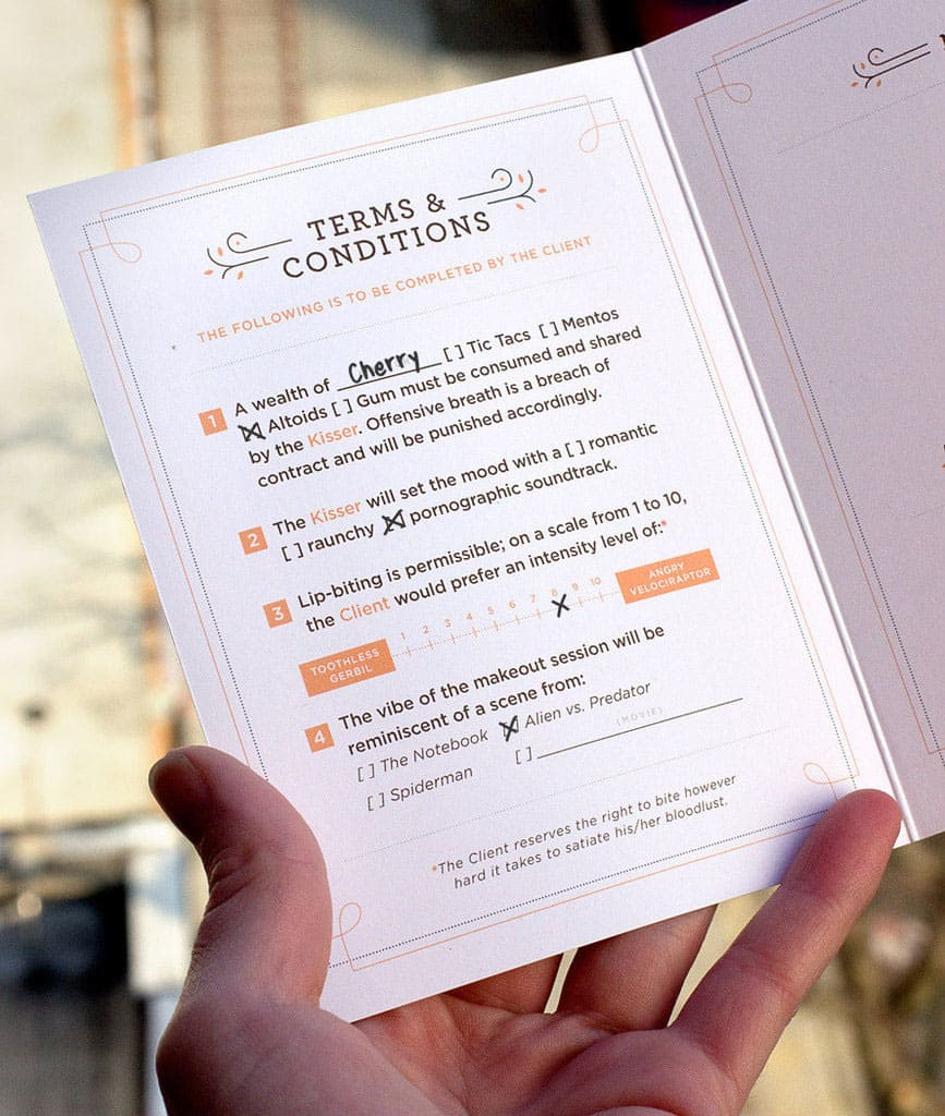 55 His Makeout Contract Card Funny Greeting Card