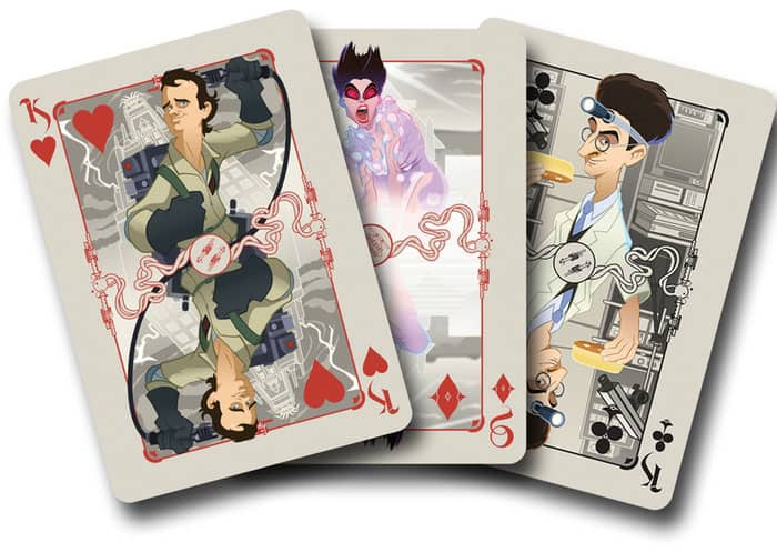Albino Dragon Ghost Busters Playing Cards Anniversary