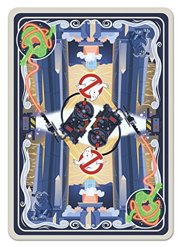 Albino Dragon Ghost Busters Playing Cards Rear Design