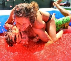 When you wrestle you wrestle with jello!