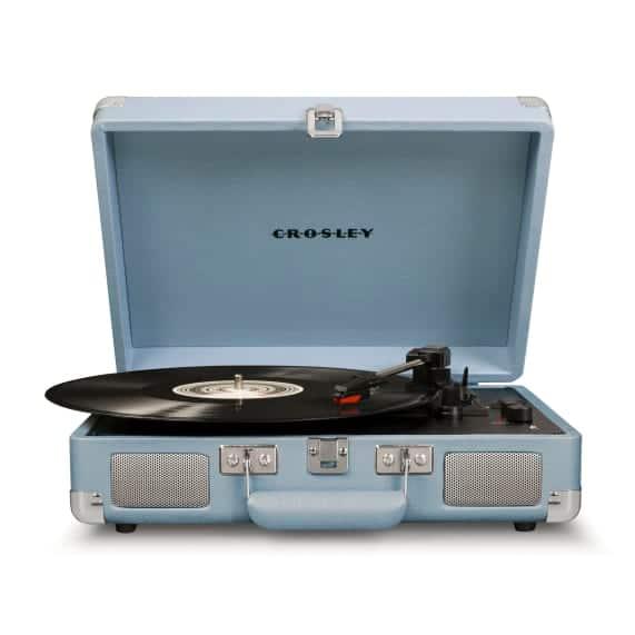 Crosley Cruiser Portable Turntable Blue Cool Music Gadget