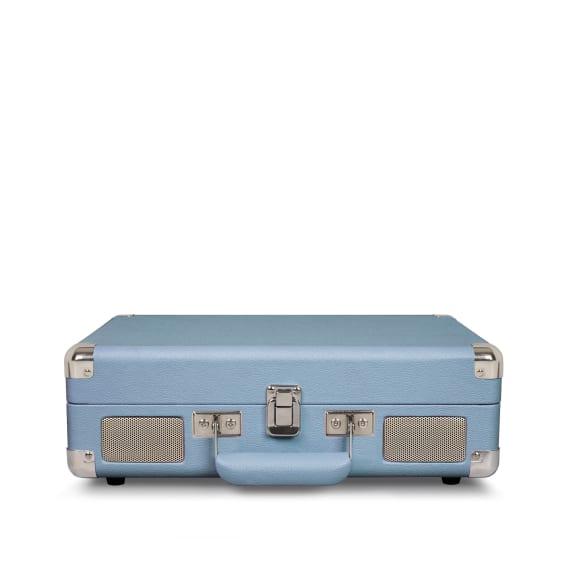 Crosley Cruiser Portable Turntable Blue Front Speakers