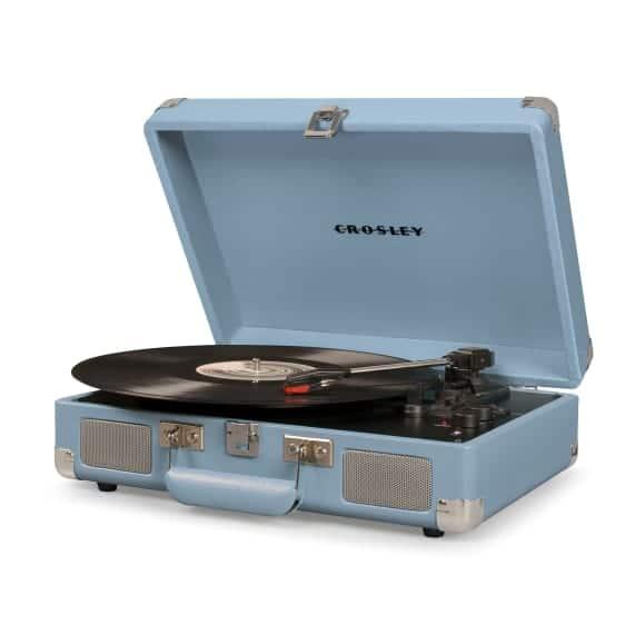 Crosley Cruiser Portable Turntable Blue Old School Music Style