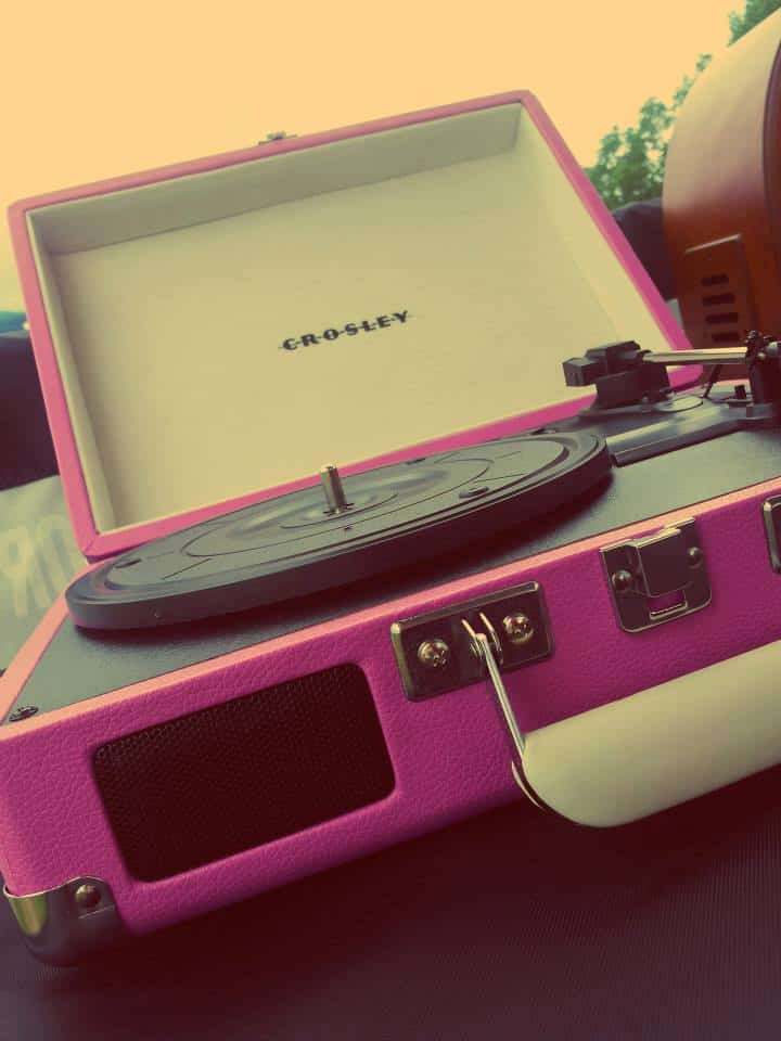 Crosley Cruiser Portable Turntable Pink Record Player