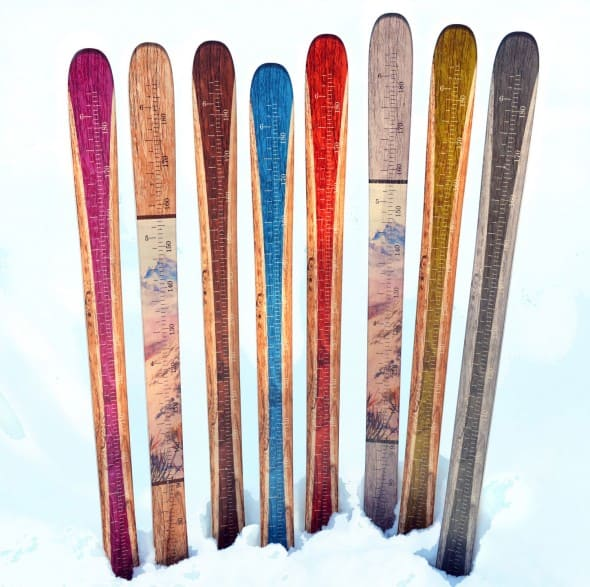 Growth Chart Art Wooden Ski Growth Chart Baby Shower Gift Idea
