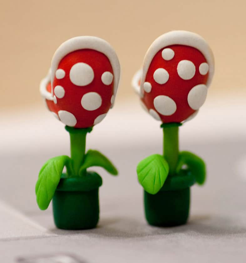 Lizglizz Piranha Plant Earrings Cute Geeky Earrings