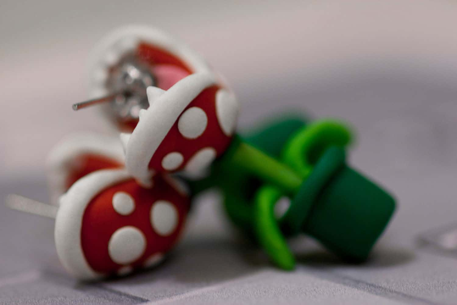Lizglizz Piranha Plant Earrings Cute Mario Fashion Accessory