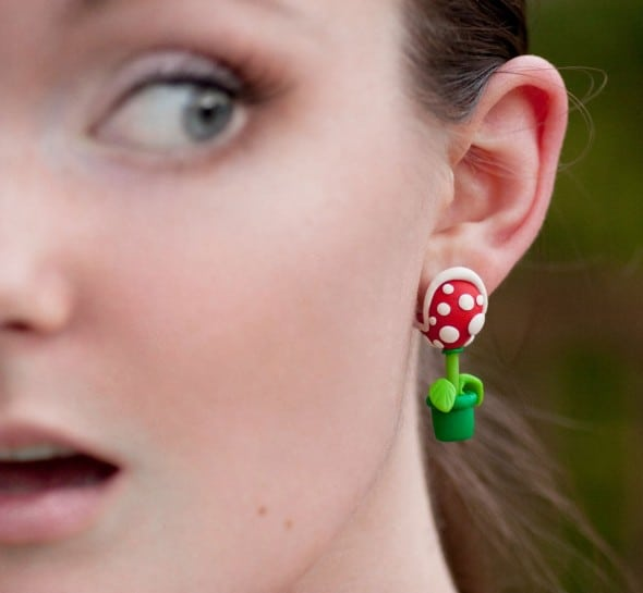 Lizglizz Piranha Plant Earrings Cute Stuff to Buy Her