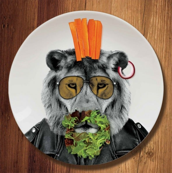 Mustard Wild Dining Dinner Plate Cool Lion Design
