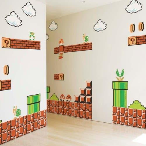Nintendo Super Mario Bros. Wall Graphics Cool Dorm Design