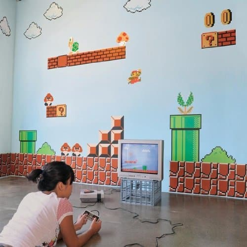 Nintendo Super Mario Bros. Wall Graphics Cool Geek Gift Idea