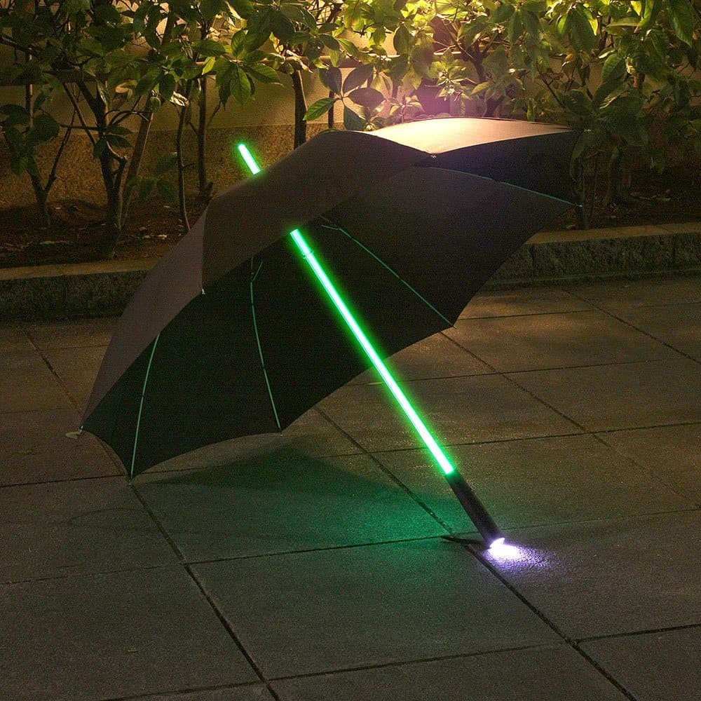 Rainbow Flash LED Umbrella Buy Star Wars Geek Gift